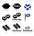 Scottish food - Haggis Scotch egg Shortbread ico vector image vector image