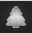 silver christmas tree vector image