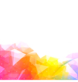 background low poly light vector image vector image