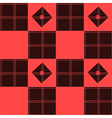 Chessboard Red Background vector image