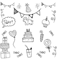 Set party doodle vector image