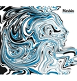Black blue and white marble style abstract vector image vector image