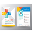 Brochure Flyer graphic design Layout template vector image