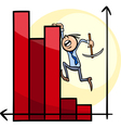 businessman on chart cartoon vector image