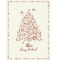 Christmas card sketch drawing for your design vector image