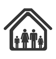 Family and home icon theme design vector image
