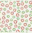 pepper slices pattern vector image