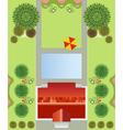 regular garden plan vector image