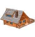 Isolated Wooden Cabin vector image vector image