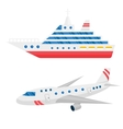 Ship cargo and airline avia transportation vector image