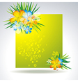 set of colorful flower in banner vector image