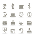 Office icons9 vector image