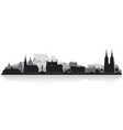 Marburg Germany city skyline silhouette vector image vector image
