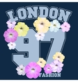 Floral t-shirt emblem Summer style vector image