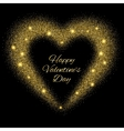 Abstract background with gold glitter heart vector image vector image