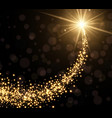 Abstract golden christmas background vector image