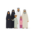 big muslim family - cartoon people characters vector image