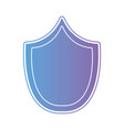 line security shield protect symbol vector image