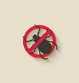 Mite warning sign vector image