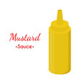 mustard sauce bottle cartoon flat style vector image