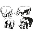 Rhinoceros Tattoo Drawings vector image