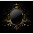Royal background with golden frame vector image