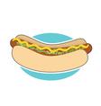 Hot Dog and Relish vector image vector image