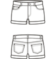 Jean shorts Front and back vector image vector image