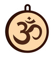 hindu om symbol icon isolated vector image