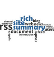 word cloud - rich site summary vector image