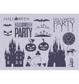 elements on Halloween vector image
