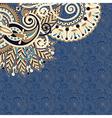ornate card flower background vector image vector image