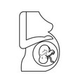 pregnant woman with her fetus vector image