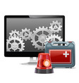 Computer Emergency Support vector image