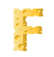 cheese letter F vector image