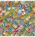 Cartoon art and craft seamless pattern vector image