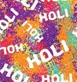 Holi celebration Holi ornament background Holi vector image