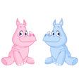 baby rhinos vector image