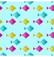 Blue geometric seamless background Swimming fish vector image