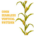 corn maize seamless vertical pattern vector image