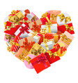 gifts heart vector image