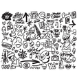 rap music hip hop graffiti icons set vector image