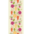 Root vegetables vertical seamless pattern vector image