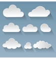Set of flat clouds vector image