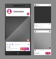 smartphones inspired by social media - phone photo vector image