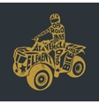 Typography lettering ATV vector image