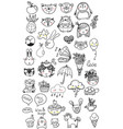collection of children doodles vector image vector image