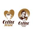 coffee logo cafe espresso coffeehouse vector image