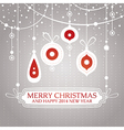 Christmas retro vintage greeting card vector image