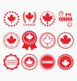 Red canada flag emblems and design element set vector image